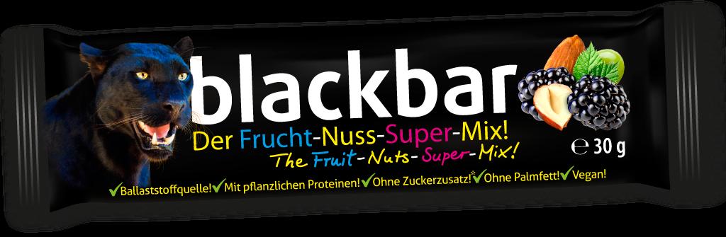 blackbar, Der Frucht-Nuss-Super-Mix in Riegelform!